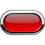 Thick grayscale border red button vector graphics