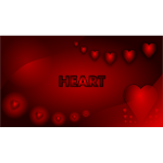 Valentine heart wallpaper vector graphics