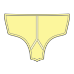 Yellow panties vector illustration