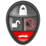 Car alarm remote vector clip art