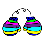 Image of colorful mitten
