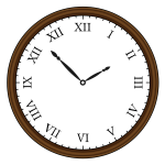 Retro clock vector drawing