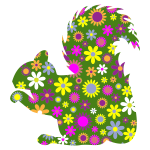 Floral squirrel silhouette