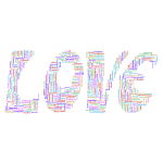 Retro Love Typography Word Cloud Variation 2 No Background