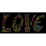 Retro Love Typography Word Cloud