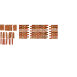 A set of several brick wall sets vector image