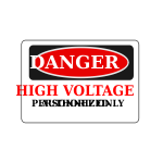 Rfc1394 Danger High Voltage Authorized Personnel Only