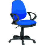 Rfc1394 Desk Chair Blue with wheels