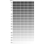Vector clip art of shades of grey palette