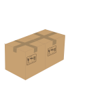 Vector image of 2 sealed cardboard boxes next to each other