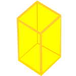 Yellow transparent cube