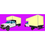 Box truck vector drawing