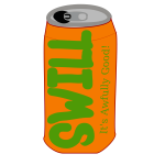 Vector image of Swill soda can