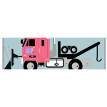 Tow truck with snow plow vector image