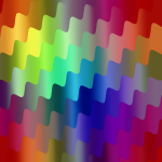Colorful pattern wavy effect