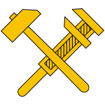 Vector image of working class socialist symbol
