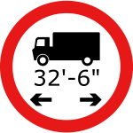 Lorry length symbol