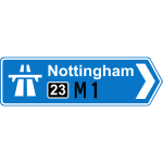 Motorway road sign