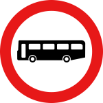 Bus traffic sign