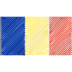 Romania flag linear 2016082623