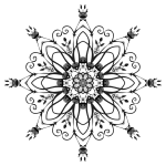 Flowery black and white design