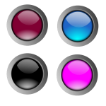 Round glossy buttons vector drawing