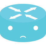 Blue network emoticon