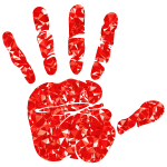 Ruby Handprint Silhouette