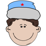 Russian boy vector illustration
