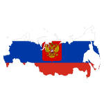 Vector image of the map of Russia