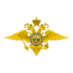 Emblem of the Ministry of Internal Affairs of Russia vector drawing