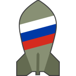Vector image of hypothetical Russian nuclear bomb
