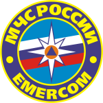 Vector image of emblem of Russian Emergency Rescue Ministry