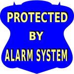 Alarm system vector sticker