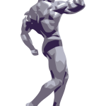 Vector clip art of a bodybuilder