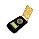 Universal communicator device vector image