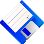 Labelled floppy disk vector clip art