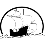 Sailboat outline