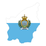 San Marino Map Flag