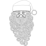 Santa Claus outline vector