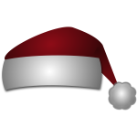 Hat of Santa Claus vector image