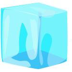 Ice cube vector clip art