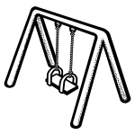 Kid's swing vector clip art