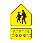 School crossing sign vector clip art