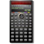 Scientific calculator vector illustration