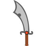 Vector of a scimitar