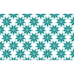 Seamless green flowers pattern