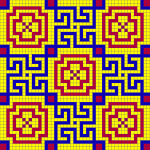 Seamless Tiled Geometric Mosaic Pattern By Karen Arnold