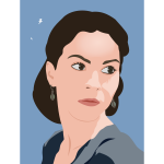 Woman vector portrait