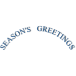 Season's greetings curved banner vector image